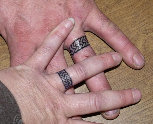 Celtic-Cool Wedding Ring Tattoos