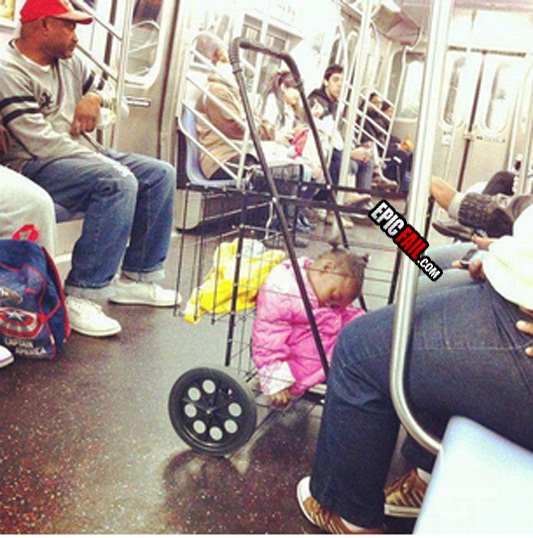 It's not actually a push chair-WTF Subway Fails