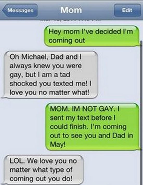 How They Think He is a Gay When He is Actually Not?-15 Most Awkward Texts From Mom