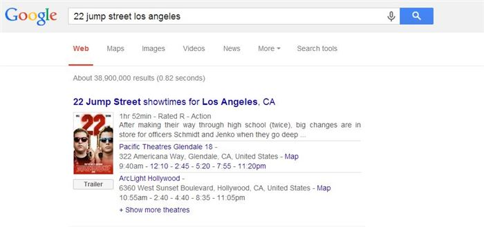 Know Movie Timings in Your City-15 Google Hacks That Make Your Life Simpler
