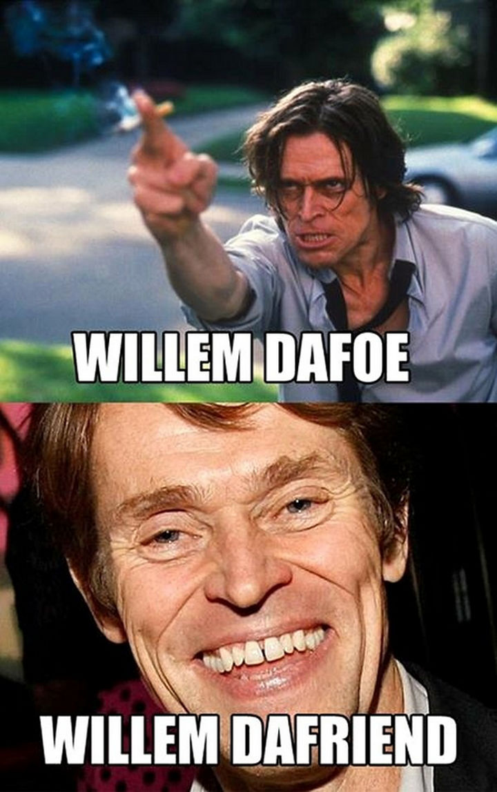 William Dafoe-15 Celebrity Name Puns That Are Hilarious