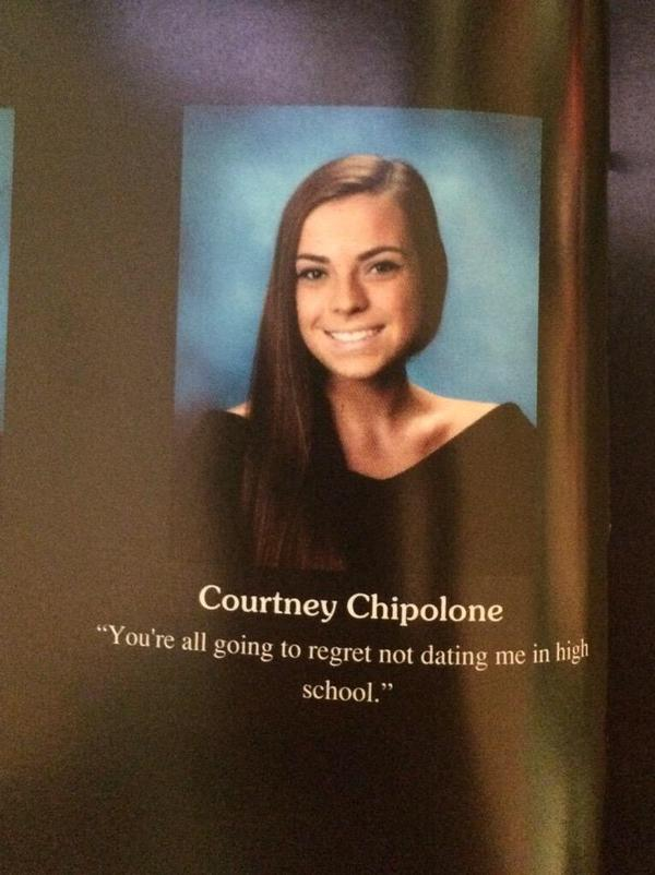 Aimed Straight at Guys-15 Hilarious Yearbook Quotes Ever