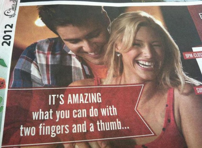 What Can You Do With Two Fingers and a Thumb?-15 Normal Pictures That Prove You Have A Dirty Mind