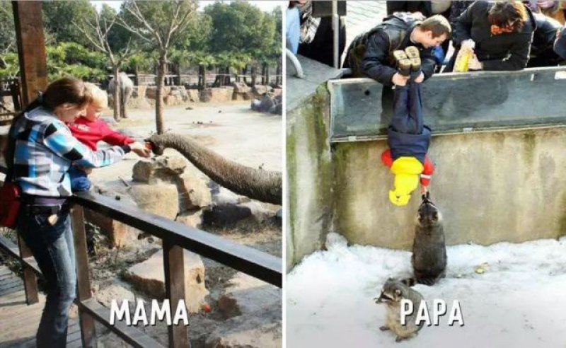 Day out- Mom vs. Dad-15 Hilarious Differences Between Mom And Dad