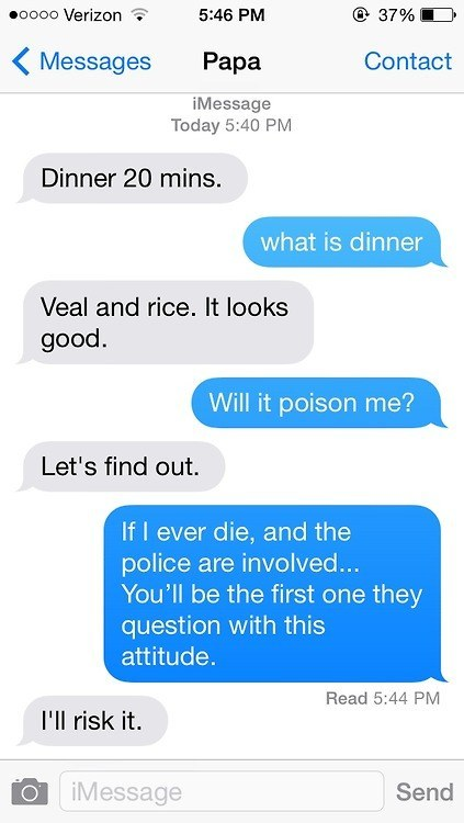 Dad Cooked Some Humor for a Meal-15 Hilarious Texts From Parents That Will Make You Cry Then Laugh