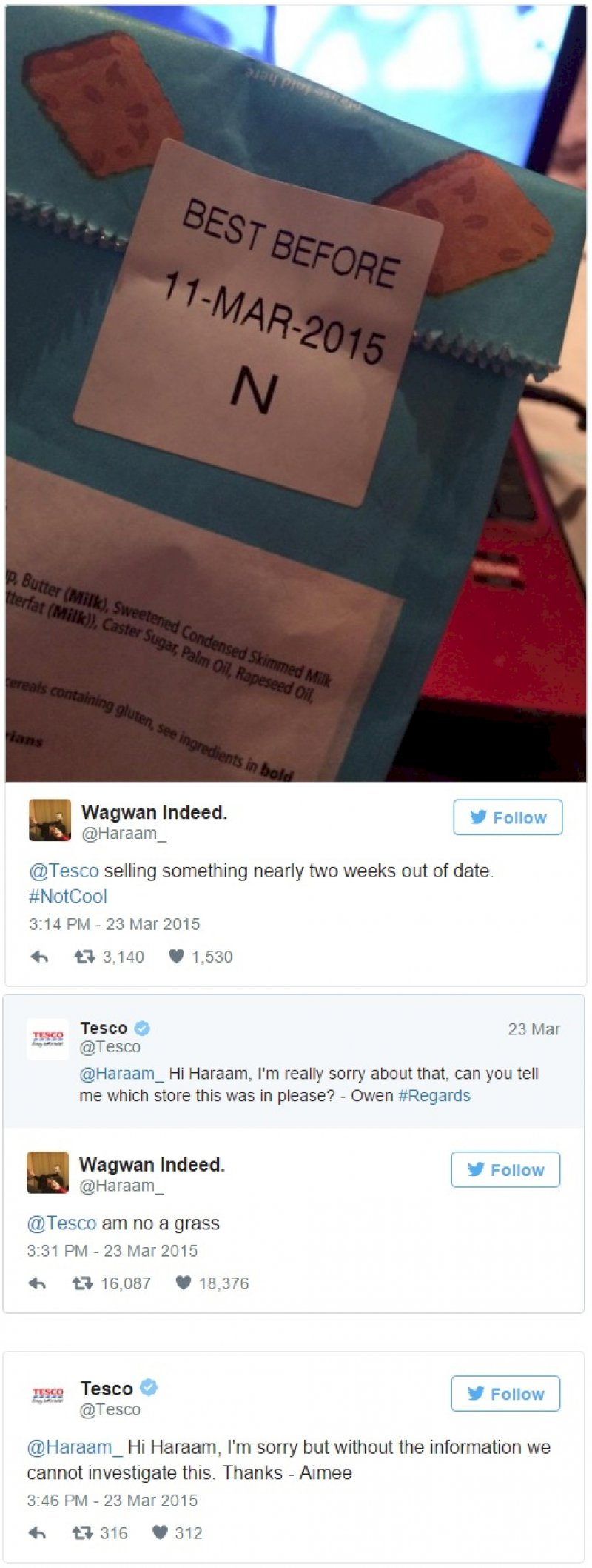 Trolling Tesco-11 Times Customers Perfectly Trolled Brands On The Internet