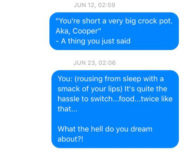 And the Random Talk Continues-Wife Texts All The Things Her Husband Says In His Sleep(12 Photos)