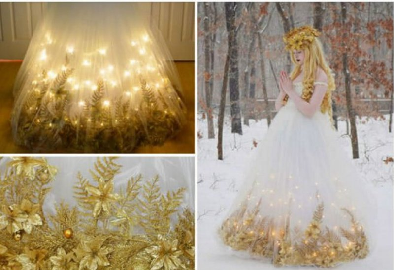 This Beautiful Christmas Costume-Meet The Girl Who Sews Her Own Cosplay Dresses