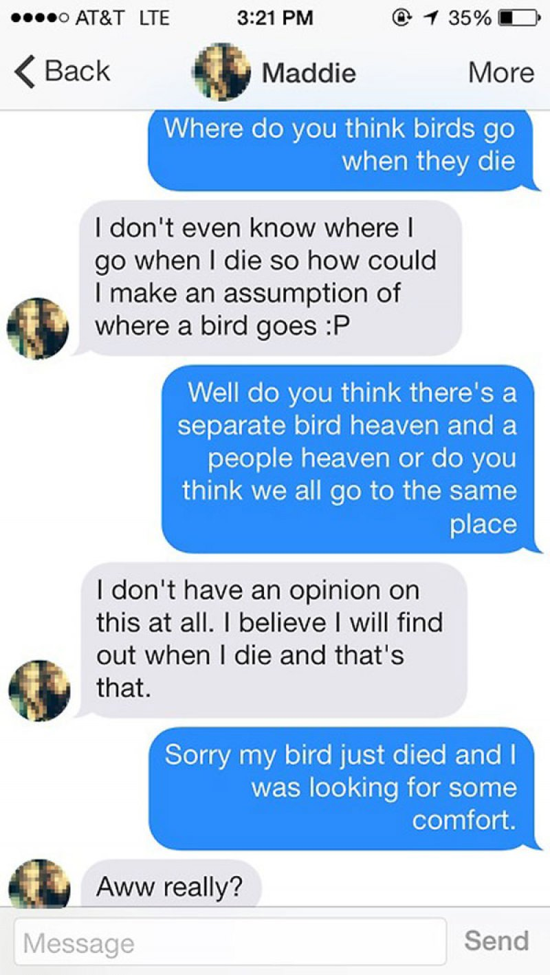 Playing the Sympathy Card-15 Funniest Pickup Lines To Use On Tinder