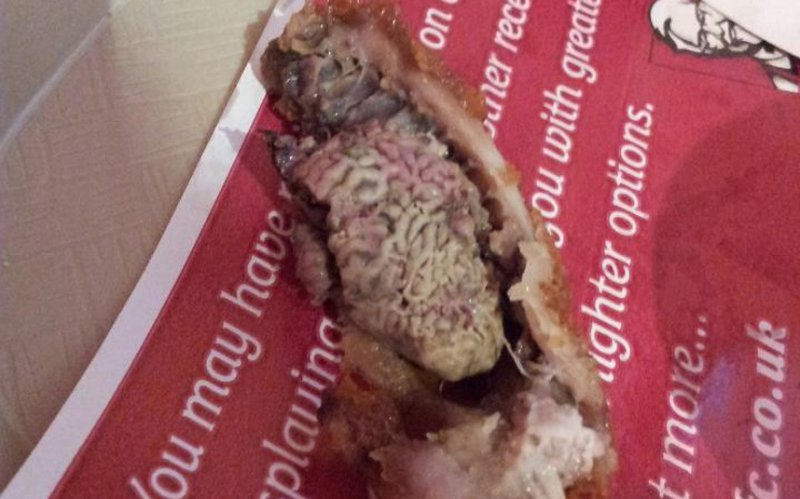 Kentucky Fried Kidney-15 Most Disgusting Things People Ever Found In Their Food