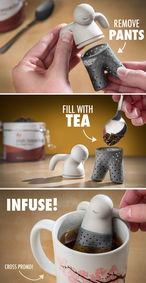 'Mr. Tea' Silicone Tea Infuser-15 Tea Infusers Those Are Amazingly Adorable