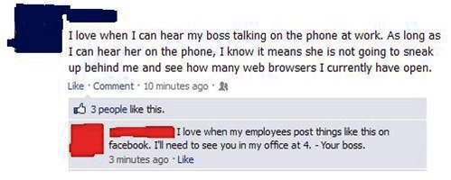 Don�t Have Your Boss as a Facebook Friend-15 Times Employees Got Fired By Their Boss