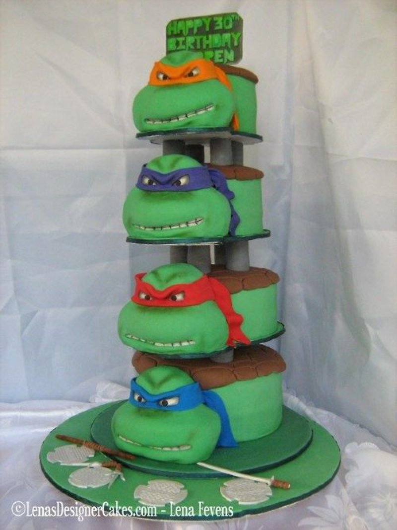 Teenage Mutant Ninja Turtles Cake15 Amazing 3D Cartoon Model Cakes Ever