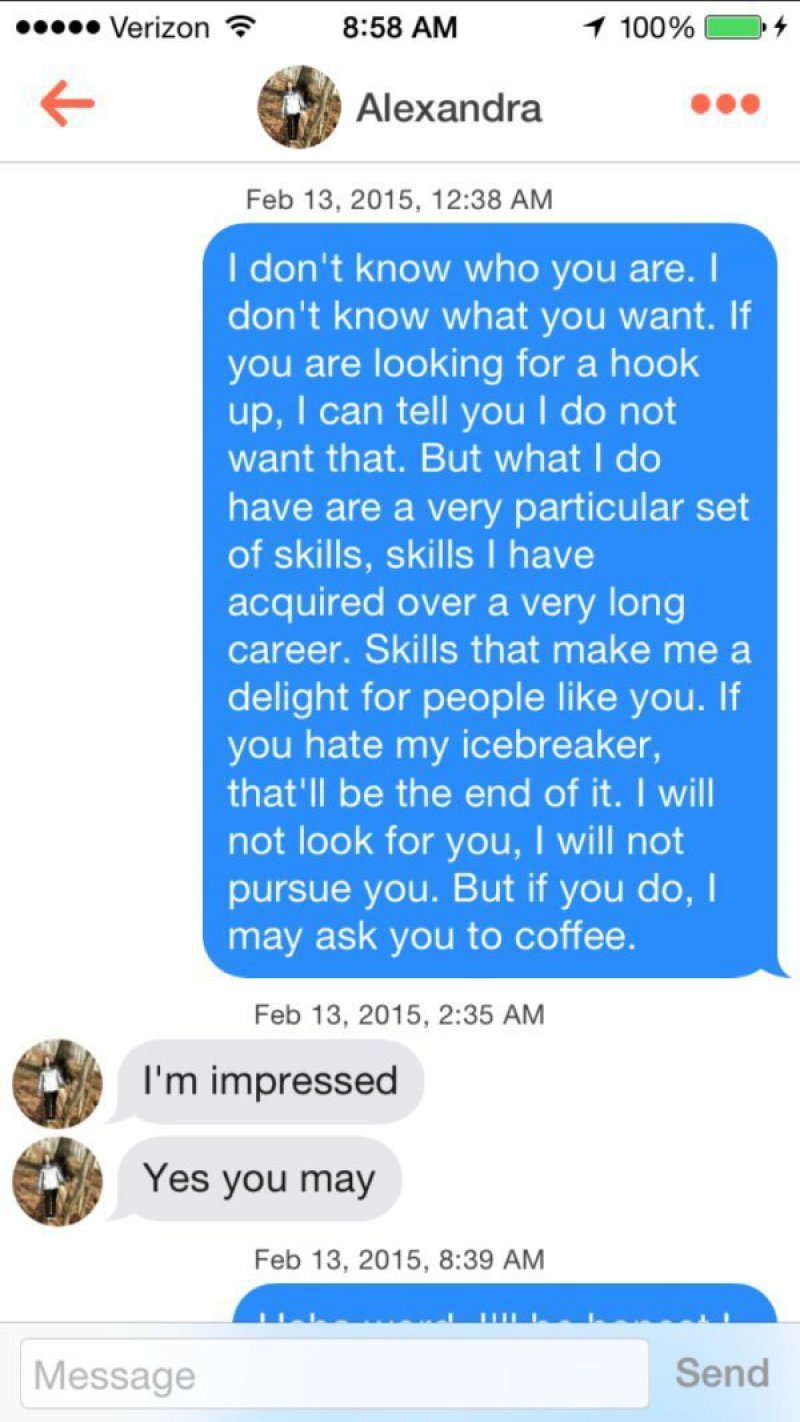 Lengthy, But Worked-15 Funniest Pickup Lines To Use On Tinder