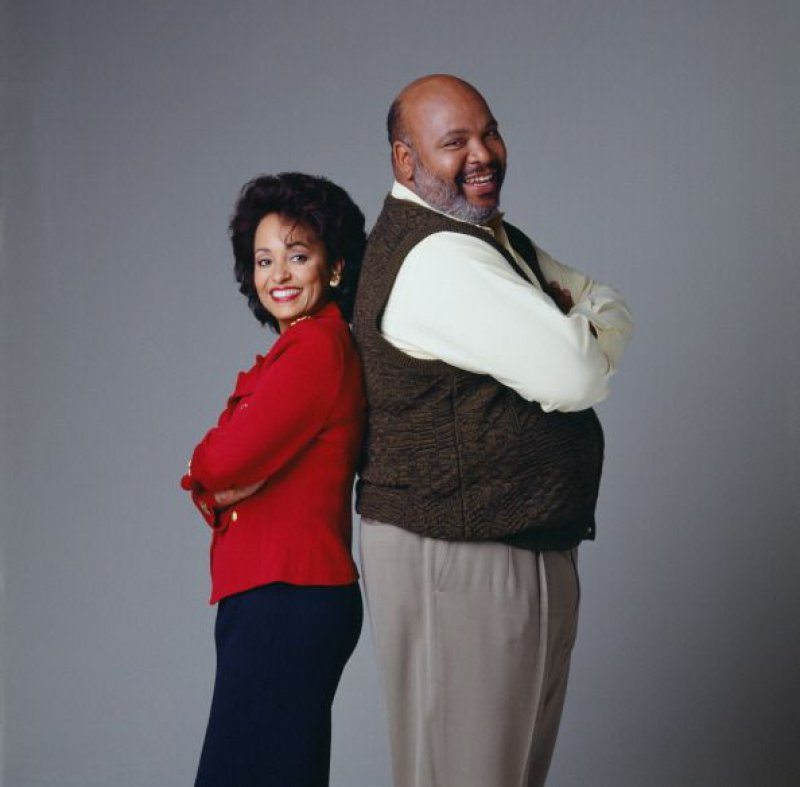 Philip & Vivian Banks - Fresh Prince Of Bel Air-12 Greatest Fat Guy / Skinny Wife Couples On TV Shows