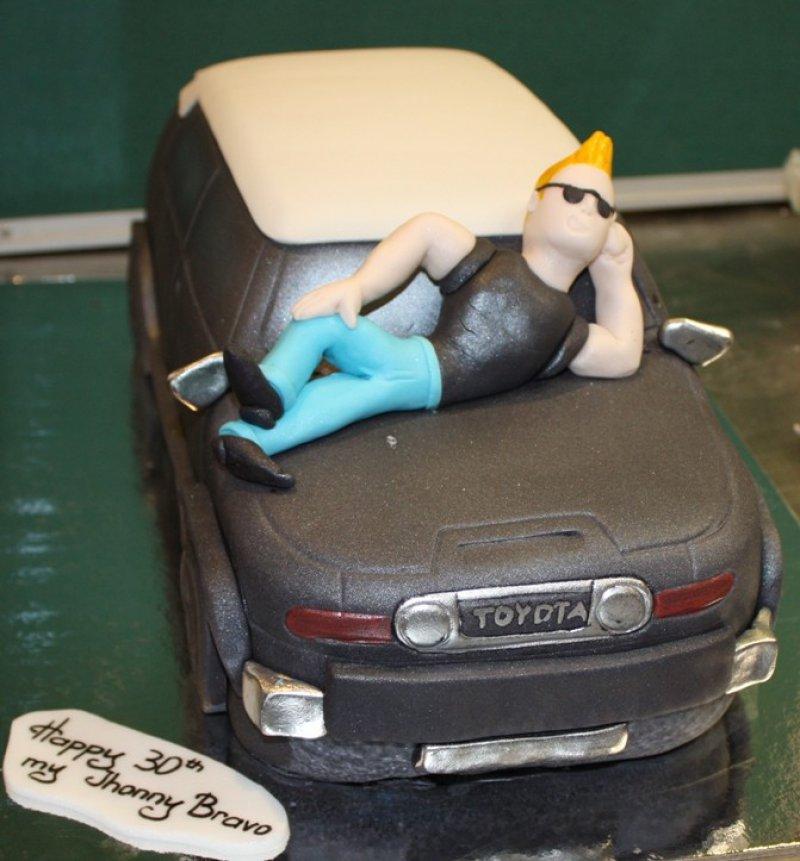 Johny Bravo Cake-15 Amazing 3D Cartoon Model Cakes Ever
