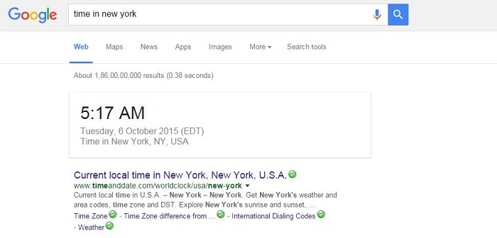 Know Sunrise and Sunset Times in Your Town-15 Google Hacks That Make Your Life Simpler