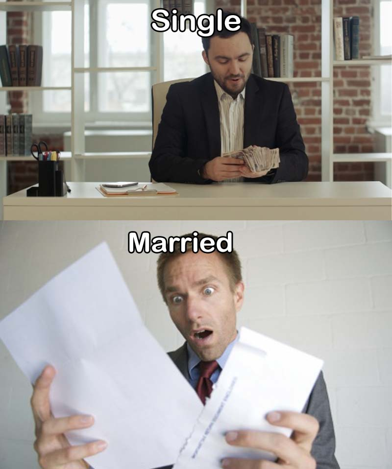 Bills Can be Frustratingly Long-15 Images That Show Striking Difference Between Single And Married Life