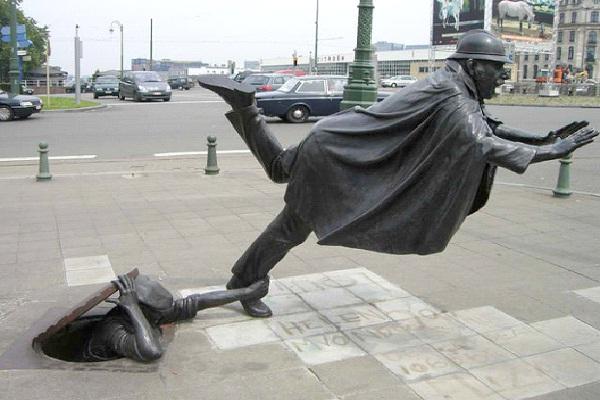 Ooops - Brussels, Belgium-World's Most Bizarre Statues