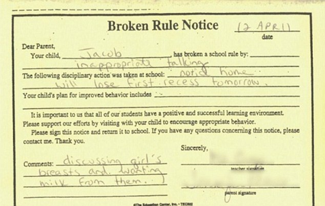 Old before his time-12 Funniest Detention Slips Ever