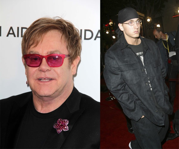 Elton John & Eminem-Unlikely Celebrity Friends