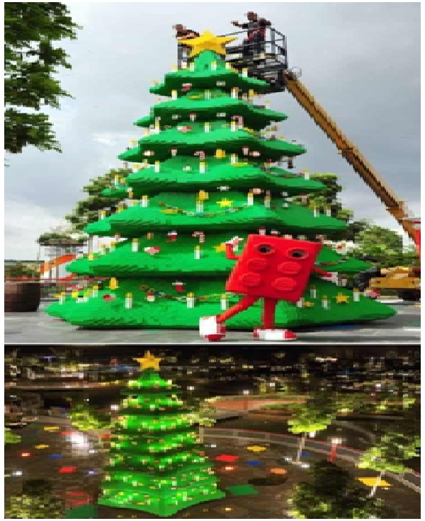 Tallest Legos Christmas Tree-Most Amazing Christmas Trees From Around The Globe