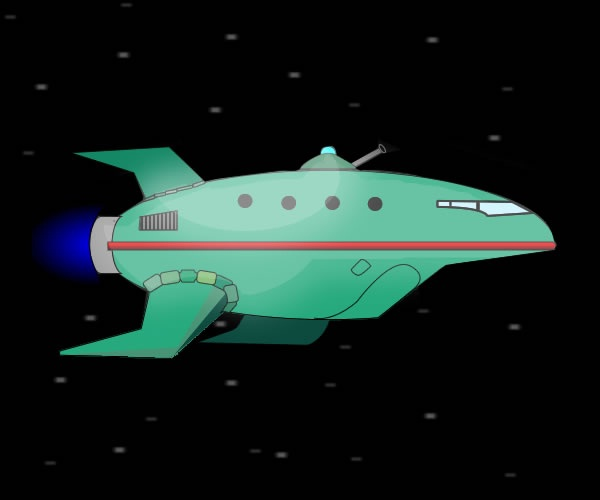 Planet Express ship-Secret Facts About Futurama You Didn't Know