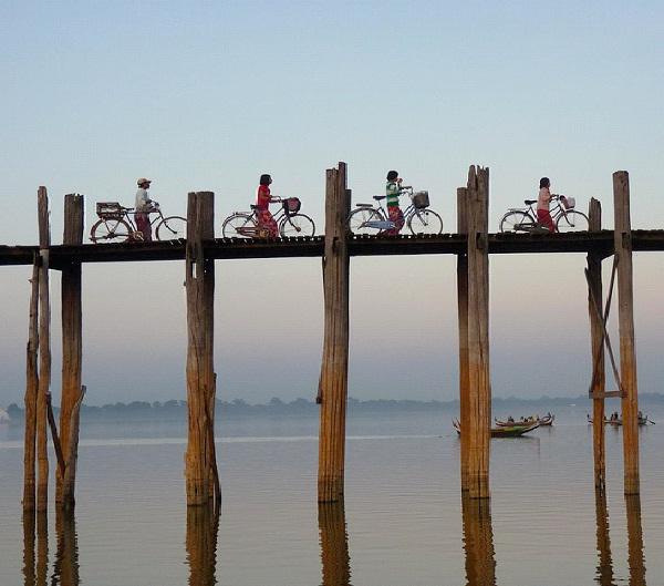 U-Bein Bridge - Myanmar-Most Extreme Bridges Around The World