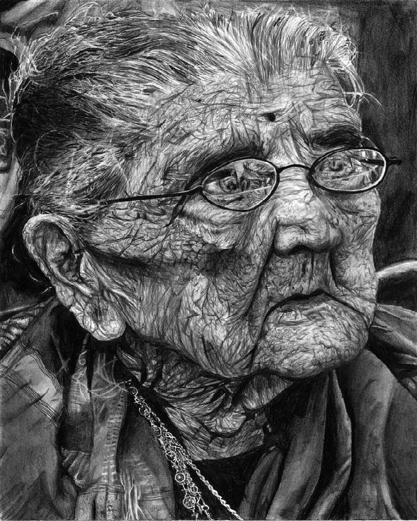 Elderly Woman-Mind Blowing Pencil Art