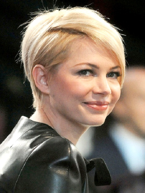Michelle Williams-12 Celebrities With Really Short Hair