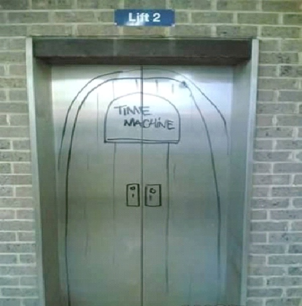 Time Machine-Absolutely Hilarious Elevator Notes