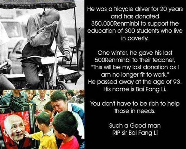 In Honour of Bai Fang Li-Pictures That Will Restore Your Faith In Humanity