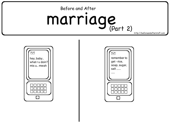Your messages change-12 Hilarious Before And After Marriage Pictures