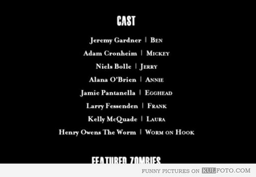 Worm On Hook-12 Funny Little Moments Found In Movie Credits