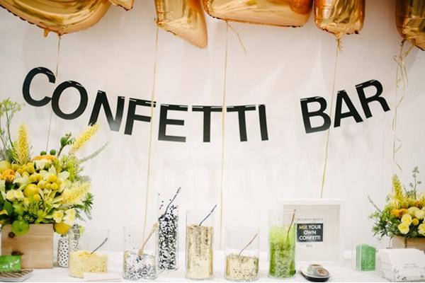 Confetti Bar-Amazing Unique Wedding Ideas