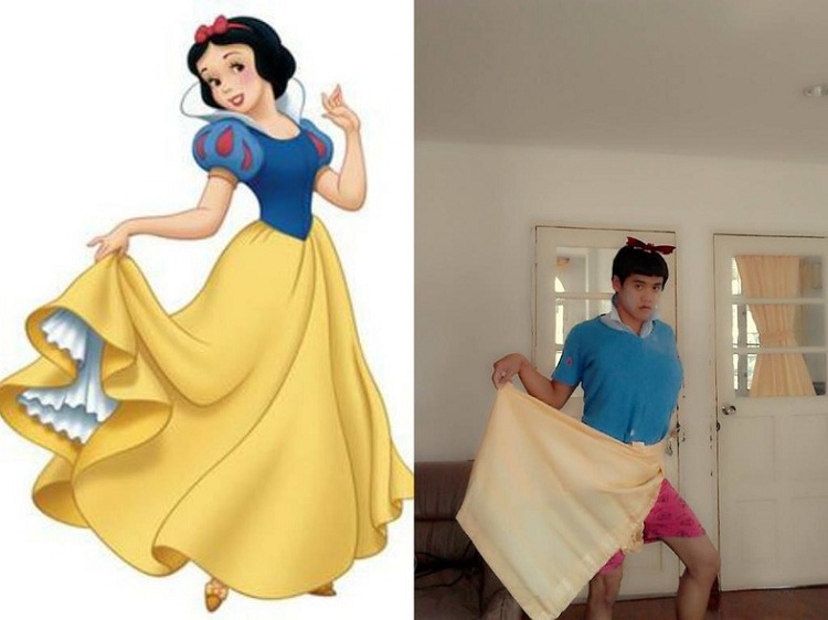 Snow White-12 Cheap Yet Funny Cosplays Ever