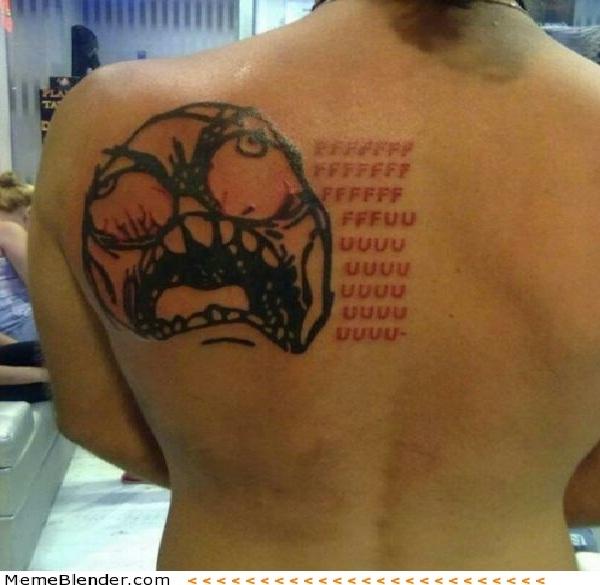 Ffffffuuuuuuuu-Wackiest Internet Inspired Tattoos