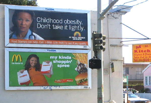 Obesity And Fast Food-Most Ironic Pictures