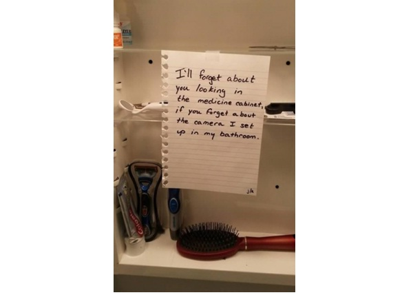 Medicine Cabinet Apology-12 Hilarious Apology Notes Ever