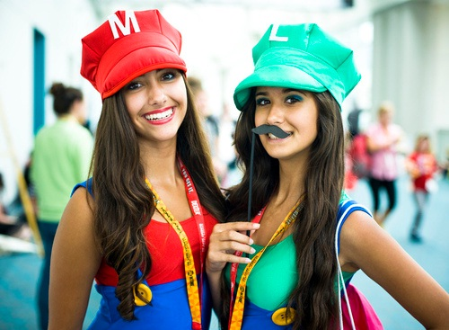 The moustache sets it off-Hot Girls In Mario Cosplays
