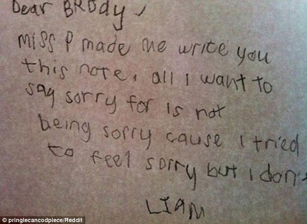 Are you sorry or not?-Hilarious And Honest Notes From Kids