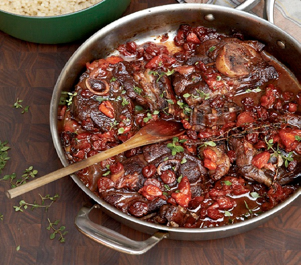 Zinfandel Braised Lamb Chops with Dried Fruit-Christmas Recipes