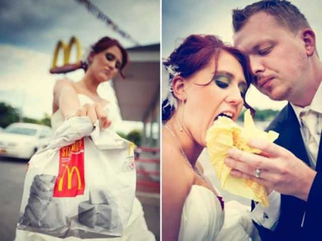 Picturesque-Pics Of People Getting Married In McDonalds