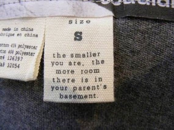 Sounds sinister-12 Hilarious Clothing Tags You'll Ever See