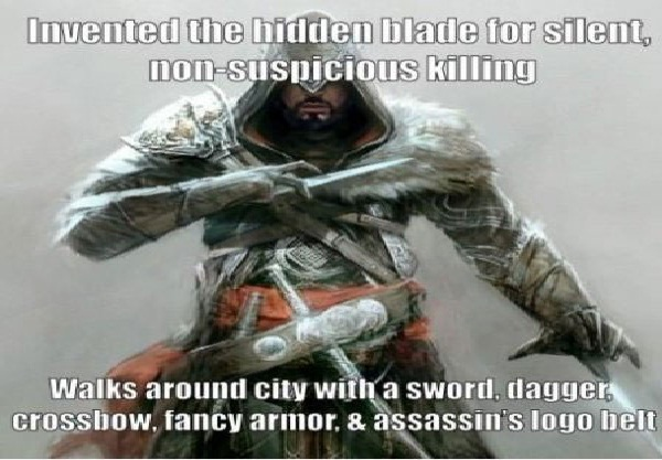 Like a big neon ninja-Worst Video Game Logic