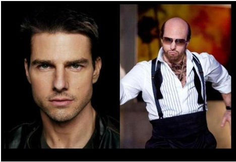Tom Cruise as Les Grossman in Tropic Thunder-Celebrities From One Movie Role To Another