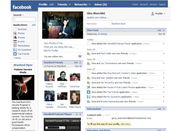 Gifts-12 Pictures That Show Facebook Design Changes Over The Years