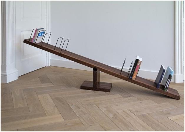 Seesaw Bookshelf-Coolest Bookshelves