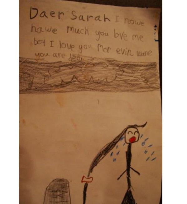 Harsh love-12 Most Disturbing Drawings By Kids