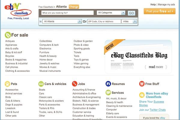 Ebay classifieds-Best Free Classifieds Websites